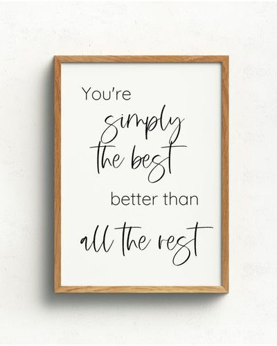 Simply The Best Schitts Creek Printable Wall Art Download Craft Quotes Schitts Creek More Than Words