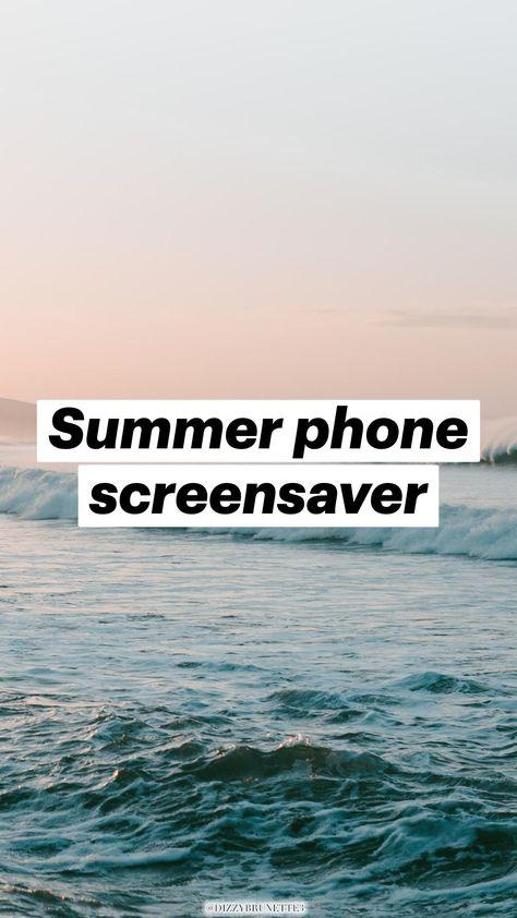Summer phone screensaver
