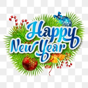 Happy New Year Christmas With Elements Decoration Happy New Year Png And Vector With Transparent Background For Free Download Happy New Year Background Christmas Image Download Newyear