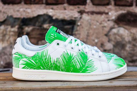 4fff0bc1d Pharrell Williams x adidas Originals Stan Smith BBC Palm Tree Pack - EU  Kicks  Sneaker Magazine