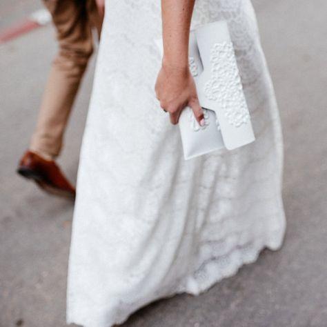 Pochette de mariée végétalien / embrayage de par MeDusaBags sur Etsy - 77€