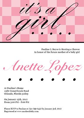 Baby Shower Invitations - A cute customizable baby shower invite