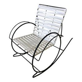 Mid Century Wrought Iron Rocker For Sale With Images Rocking