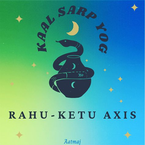 We are collectively and globally in Kaal Sarp Yog. When all 7 planets ,i.e, Sun, Moon, Mercury, Venus, Mars, Jupiter and Saturn, come between grasp of Rahu / North Node / Dragon' Head and Ketu / South Node / Dragon' Tail , then it is said to be Kaal Sarp Yog. It is like the dragon has eaten all the planets and now Rahu has control over all the planets. Only Moon will come out of the grasp for some days and will be again eaten by the Dragon. Read more on the blog #astrology #vedicastrology