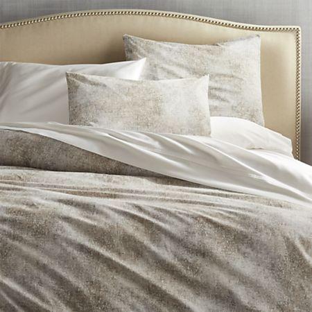 Ostin Neutral Full Queen Duvet Cover Reviews Crate And Barrel Bed Linens Luxury Neutral Duvet Covers Duvet Cover Master Bedroom