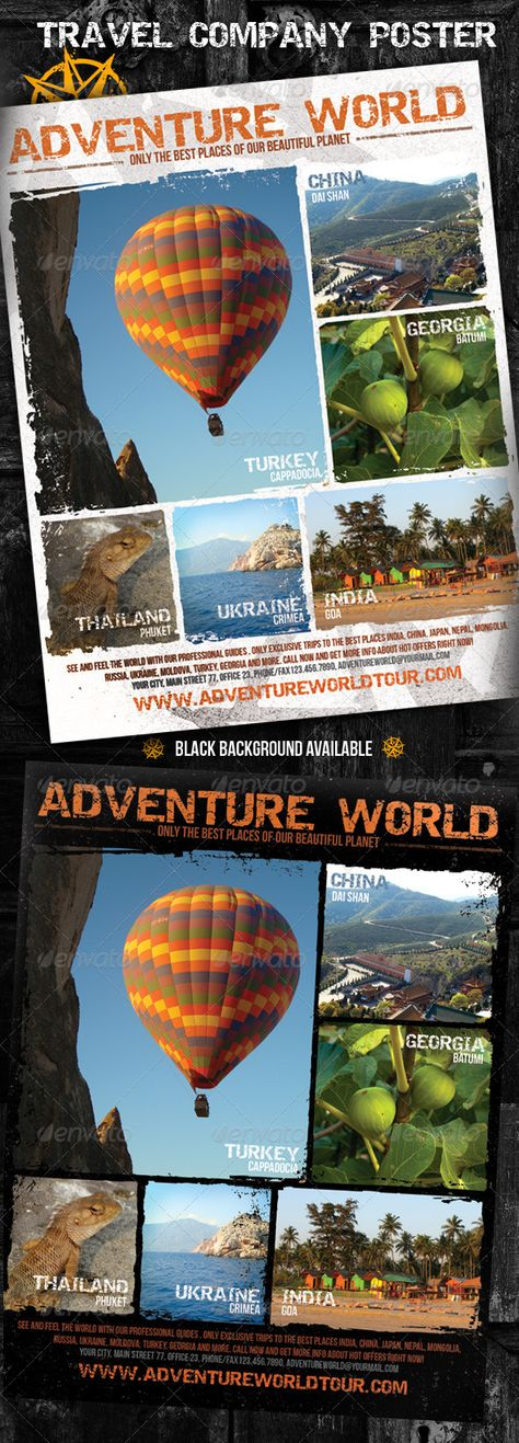 Adventure World Travel Company Poster