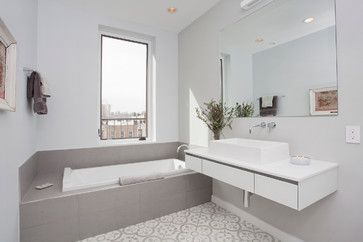 Th and hudson contemporary bathroom new york jensen c