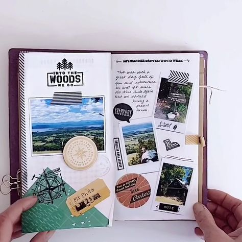 This video is a flip through of a traveler's journal. The website offers many different journal style. Bullet Journal, notebooks, washi, stamps, and more.