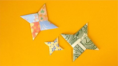 Fold an Origami Star (Shuriken) - Full instructions w/pictures - I made one in about 15 min at most - and if I can do it, anyone can do it!!