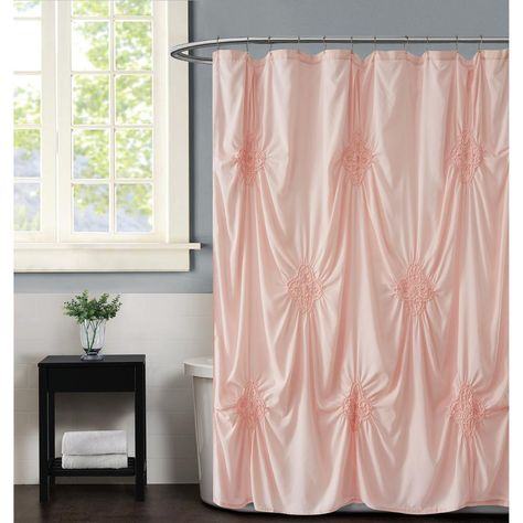 Christian Siriano Georgia Rouched 72 In X 72 In Blush Shower