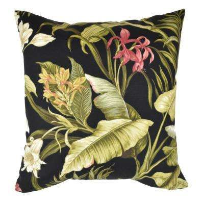 Search Results For Black Tropical Patio Cushion At The Home Depot Floral Throw Pillows Outdoor Throw Pillows Throw Pillows