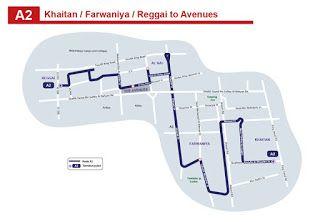 A2 Kuwait Bus Route A2 Khaitan Farwaniya Al Rai The Avenues Riggae Kuwaitbus Iiq8 News Jobs With Images Route Bus Travel