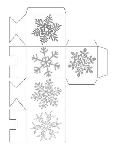 Christmas Gift Box Template Free Printable