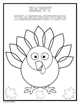 Celebrate Thanksgiving With This Easy To Use Coloring Page Print
