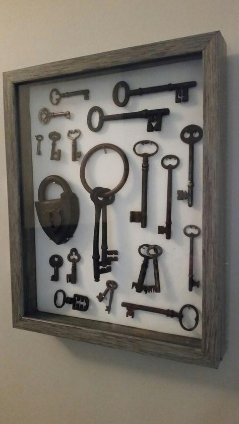 Llaves de MDF de madera forma abrir cerrar puerta Craft Decoración Llavero