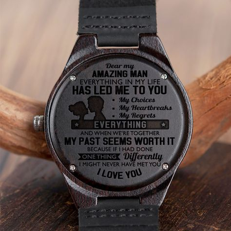 Engraved Wooden Watch – Great Gift For Your Husband – Forever Love