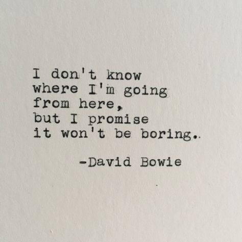 David Bowie Future Quote Typed on Typewriter | Etsy