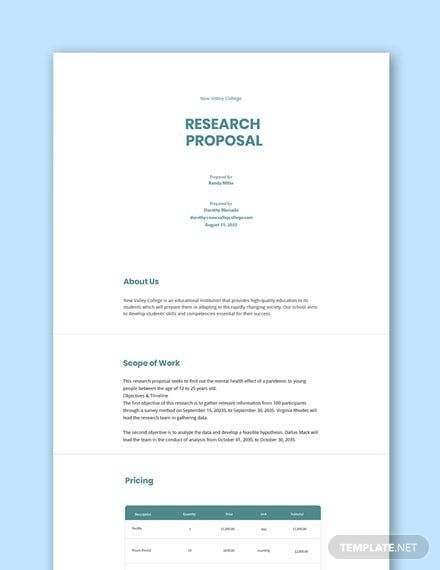 Free Research Proposal Template Proposal Templates Research Proposal Facebook Frame Prop