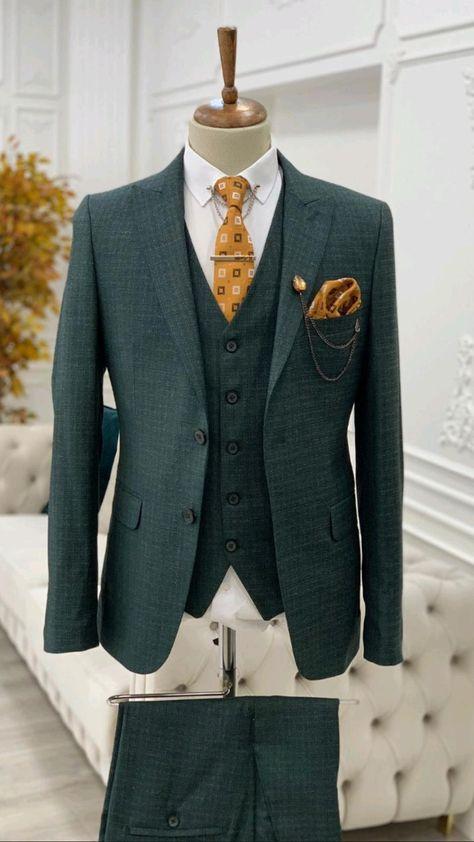 HolloMen SlimFit Wedding Groom Suits