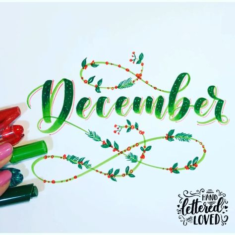 Detail makes a difference🙌🏻 learn brush lettering from ground up. Markers: Kuretake zig brushables Click link below #brushlettering #bujo #december #christmas