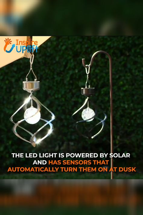 """The Hanging Solar Swirl Wind Spinner will turn your home or backyard into a place from a fairytale. Solar panels charge the batteries during the day, so the sensor can automatically turn on the LED at dusk. Even a slight breeze will make it spin adding beauty to your home, backyard or patio. It includes a metal """"S"""" hook and chain for easy hanging, and best of all, there is no wiring needed! Perfect decoration for your home!  Currently 50% OFF with FREE Shipping!"""