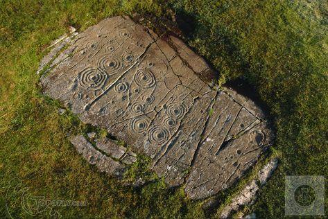 Cairnbaan Cup and Ring Carvings, Kilmartin Glen, Argyll, Scotland.