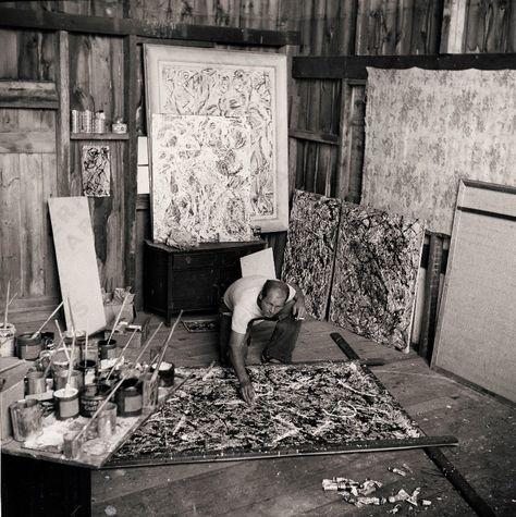 Jackson Pollock, c. 1947,  Photo by Herbert Matter, Archives of American Art