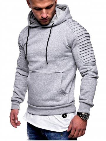 68dce302fbd77 Fashion Folded Sleeve Design Hoodie in 2019 | fitness | Hooded ...