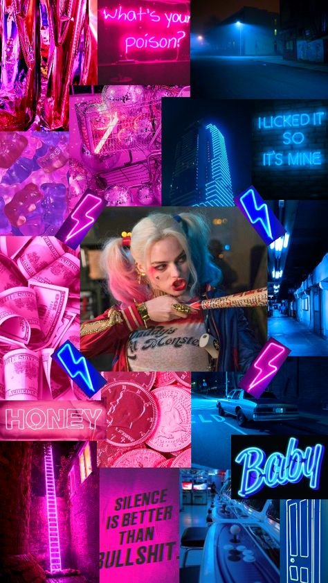 Harley Quinn aesthetic, had to make one after seeing Birds of Prey Harley And Joker Love, Harley Quinn Et Le Joker, Harley Quinn Tattoo, Harley Quinn Drawing, Margot Robbie Harley Quinn, Harley Quinn Cosplay, Disney Tapete, Harey Quinn, Applis Photo