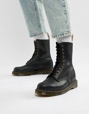 Dr Martens 1490 10-eye boots in black
