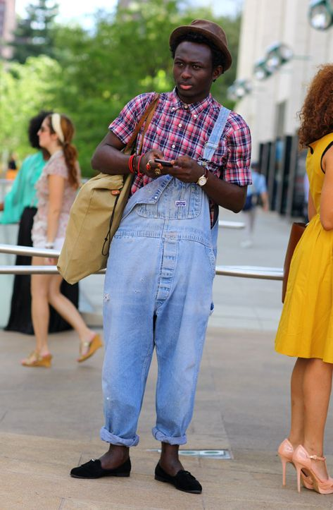 NY Street Fashion - Farmer'y Overalls.