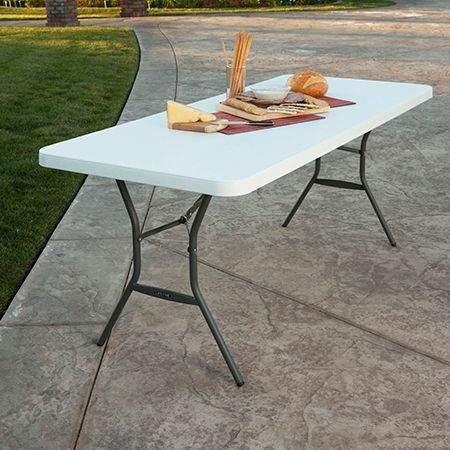 Lifetime 6 Fold In Half Light Commercial Grade Table White Granite Sam S Club Fold In Half Table Folding Table Half Table