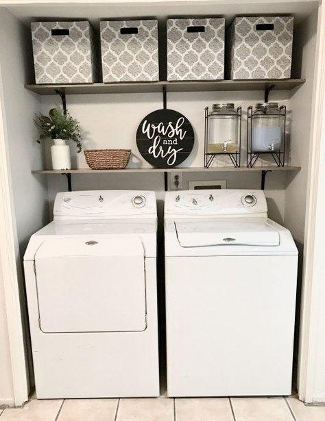 20+ Farmhouse Laundry Room Ideas and Smart Organizer Tips - Wanda Olesin