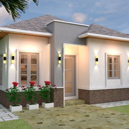 3 Bedrooms Home Design Plan 10x15m Home Ideas Small House Design Plans House Design Bungalow House Design