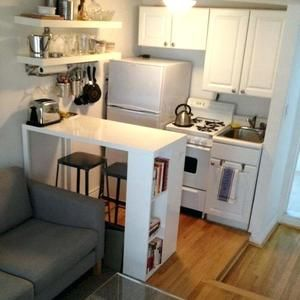 Chic Compact Kitchen For A Small Space A Great Idea For A Studio Apartment By Guida Small Apartment Kitchen Tiny Kitchen Design Kitchen Design Small