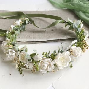 Floral Roses Wreaths /& Tiara Full Half Halo Adjustable Crown Bohemian Woodland Bridal Maternity Floral Flower Crown Photography Prop