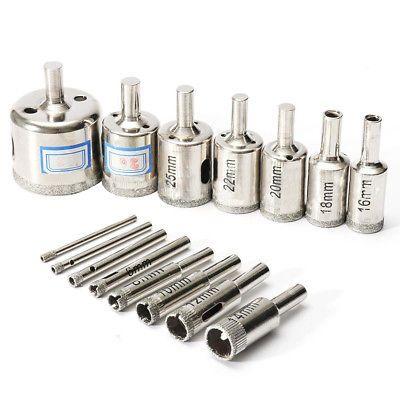 15pcs 3 42mm Drill Bit Set Hole Saw Cutter Metal Tool Glass Tile R2x7 Drill Bit Sets Drill Bits Hole Saw
