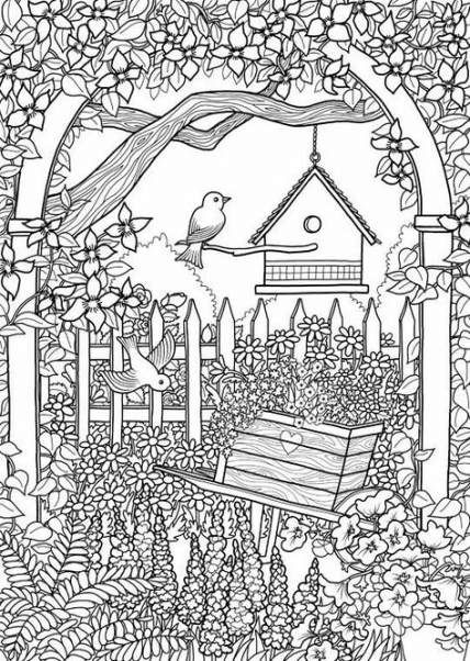 Garden Crafts For Adults Coloring Sheets 43 Ideas For 2019 Garden Mandala Coloring Pages Spring Coloring Pages Coloring Pages