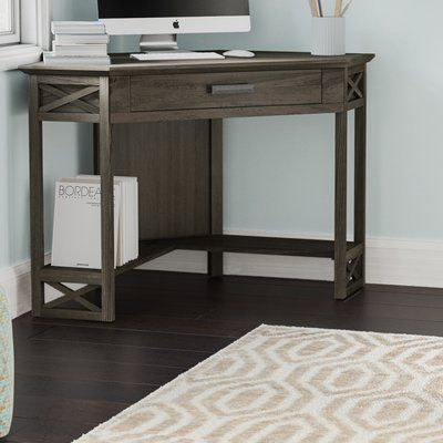 Breakwater Bay Moorton Corner Desk Color Smoke Gray Corner Desk
