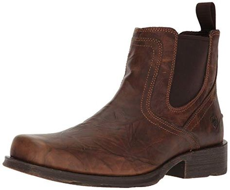 Ariat Men's Midtown Rambler Casual Boot, Barn Brown, 12 D US