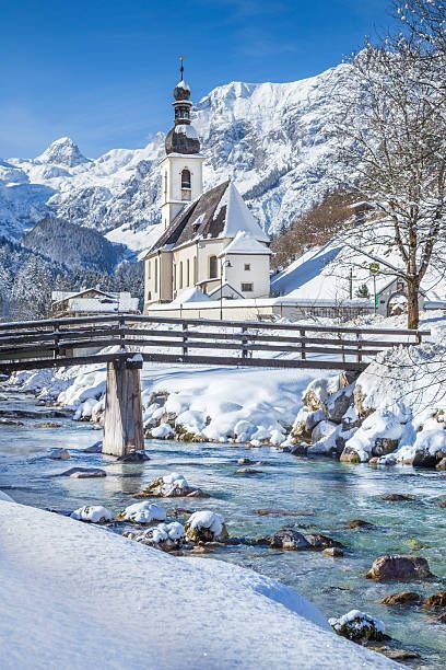 Parish Church of St. Sebastian, Ramsau bei Berchtesgaden, Bavarian Alps, Germany
