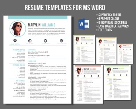 30 massive Word resume pack bundle by Inkpower on Creative Market - how to word a resume