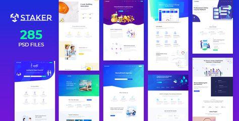 Staker — Creative Agency, Landing Page & Multipurpose PSD Template | Stylelib