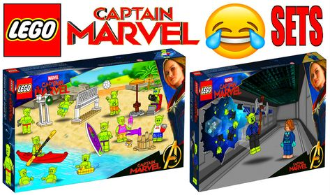 Funny Lego Captain Marvel Sets !!!