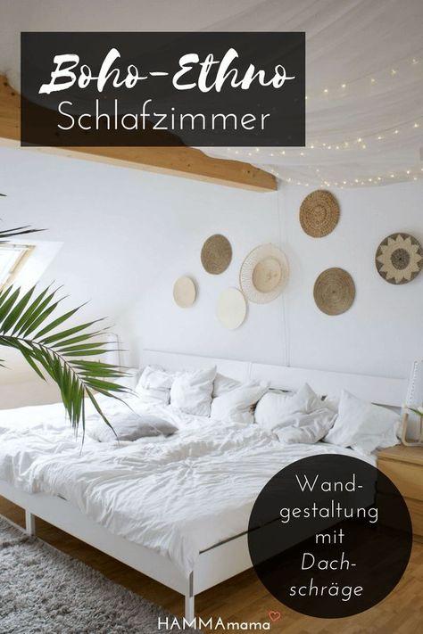 Photo of Zeit für Boho & Ethno! ° Ideen für das Schlafzimmer und die Wandgestaltung (mit Dachschräge und Fami