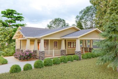 Plan 18300be Delightful 2 Bed Space Saving Bungalow House Plan Bungalow House Plans House Plans House