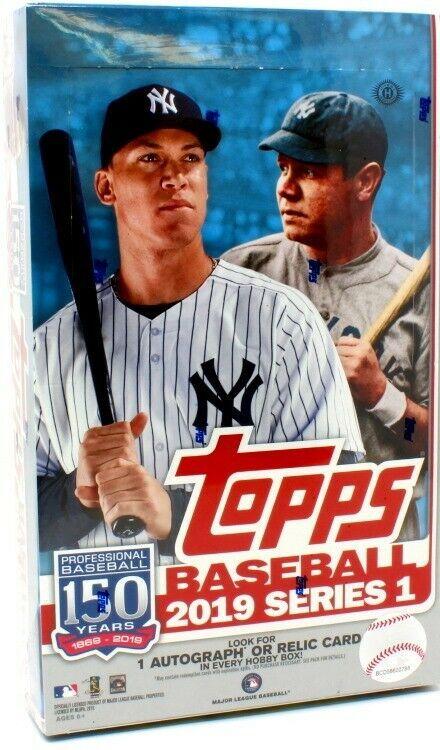 2019 Topps Series 1 Baseball Hobby 12 Box Case 12 Silver Packs