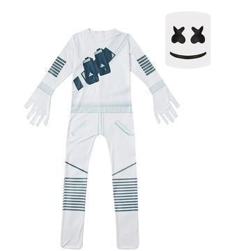 DJ Marshmallow Costume Kids Boys Children Party Cosplay Fancy Dress Outfit Set