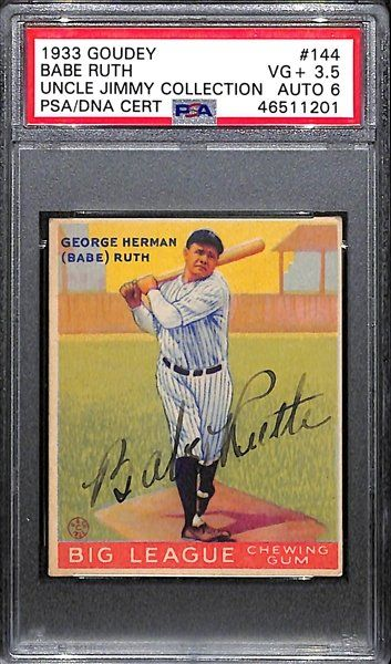 Signed Babe Ruth Cards Highlight Uncle Jimmy S Lifelong Baseball Card Autograph Collection Baseball Cards Babe Ruth Autograph Baseball