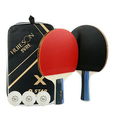 Details About 2x 3 Star Table Tennis Racket Paddle 3 Ping Pong Ball Long Short Handle With Bag In 2020 Table Tennis Bats Table Tennis Racket Table Tennis
